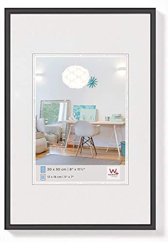 walther design KV030B New Lifestyle Kunststoffrahmen, 1 (20 x 30 cm), schwarz