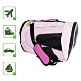 PET MAGASIN Sac de Transport pour Chat - Bandouliere Caisse de Transport pour Chat, Petit Chien, Lapin, Rose
