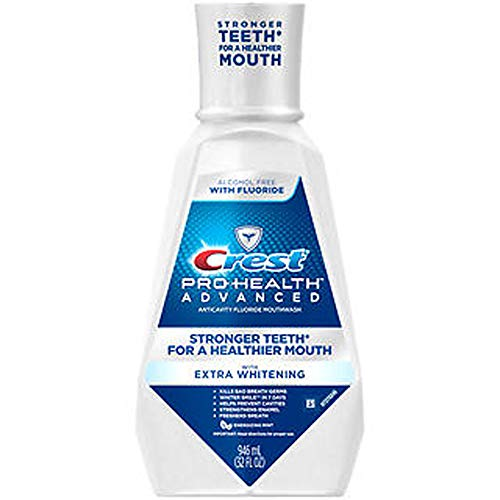 Crest Pro-Health Advanced Mouthwash with Whitening in Energizing Mint - 946 ML, Pack of 2