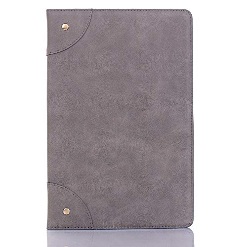 MOYOFEE JYMD AYDD Retro Book Style Horizontal Flip Leather Case for Galaxy Tab S5e 10.5 T720 / T725, with Holder & Card Slots & Wallet (Black) (Color : Grey)