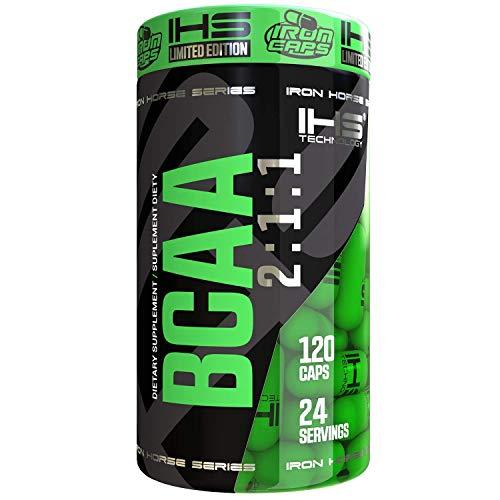 IRON HORSE BCAA 2:1:1 120caps kappseln Verzweigte AminosäurenUnterstützung für die MuskelregenerationEs hilft, einen guten Zustand des Muskelgewebes aufrechtzuerhalten