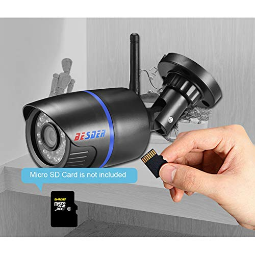MeterMall Draadloze IP Camera 1080P Surveillance Waterdichte CCTV Beveiliging IP Camera Wifi ONVIF Micro SD Card Slot 2 miljoen pixels 960P (8mm)