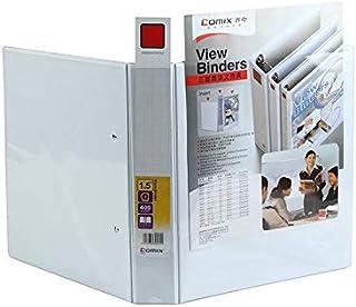 ملف أبيض، أربعة حلقات، مقاس 2.5 انش، 650 ورقة 5 ملفات
