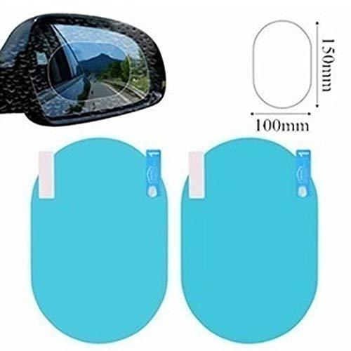 MAXIAORUI 2 Teile/Satz Regen Auto Zubehör Autospiegel Fenster Klarfolie Membran Anti Fog Blendschutz Wasserdicht Aufkleber Fahrsicherheit