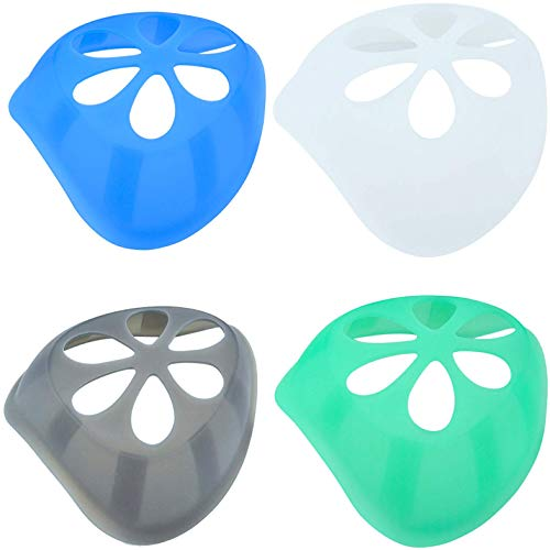 4 Pack Silicone 3D Inner Support Bracket for Mask Cool Lipstick Protector Stand Nose Protection Lipstick