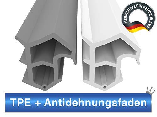 Stahlzargendichtung Weiß 5m - gegen Zugluft Lärm & Staub spart Heizkosten Dichtung Dichtungshöhe 16mm Dichtungsbreite 14mm Falz Türdichtung (Weiss 5m)