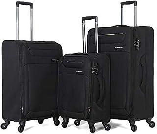 Giordano luggage - 163121 soft case trolley 3 pcs set with 4 wheel