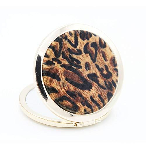 Miroir de maquillage léopard coeur pêche coeur