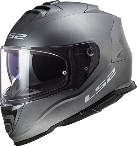 LS2 Motorradhelm FF800 STORM SOLID MATT TITANIUM, Titanium, XXL