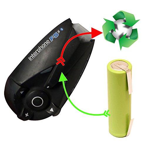 akkutauschen.de Akkutausch für Motorrad Bluetooth-Gegensprechanlage kompatibel z.B. mit Interphone, Scala Rider