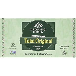 Tulsi Organic Original 25 Teabags (Pack of 5, Total 125 Teabags)