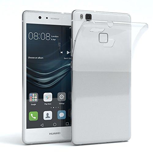 EAZY CASE Hülle kompatibel mit Huawei P9 Lite (2016) Schutzhülle Silikon, Ultra dünn, Slimcover, Handyhülle, Silikonhülle, Backcover, Durchsichtig, Klar, Transparent