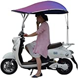 J&X Pasel de Motocicleta eléctrica Anti-UV Scooter Scooter Cubierta Impermeable Bicicleta Sol Visera Sombra Tienda Paraguas