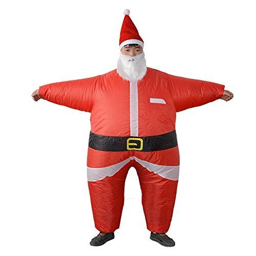 Aufblasbare Sankt-Kostüm, Sumo-Anzug mit Schnurrbart, ideal for Weihnachtsfeiern & Fancy Dress Funny & Hilarious Xmas-Kostüm, Me auf der Schulter Lustige Kostüme for Erwachsene ( Size : 150-190CM )