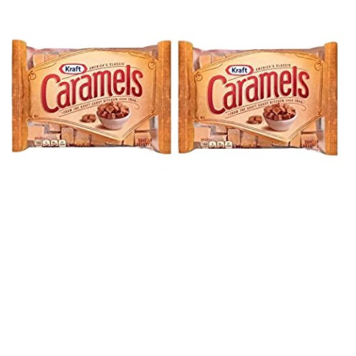 Kraft, Vanilla Caramels, Individually Wrapped, 11oz Bag (Pack of 2)
