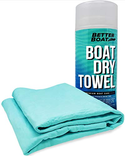 Ultra Absorbent Drying Chamois Cloth Synthetic Smooth Shammy Towel for Car and Boat Marine Grade Dry and Cleaning Supplies