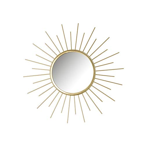 Espejo Sol Dorado de Metal de ø 45 cm - LOLAhome