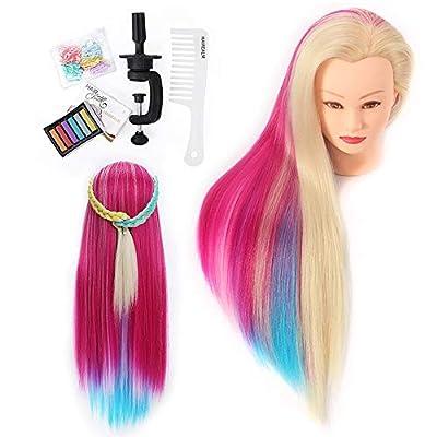 HAIREALM 65-70cm Multicolor Cabeza