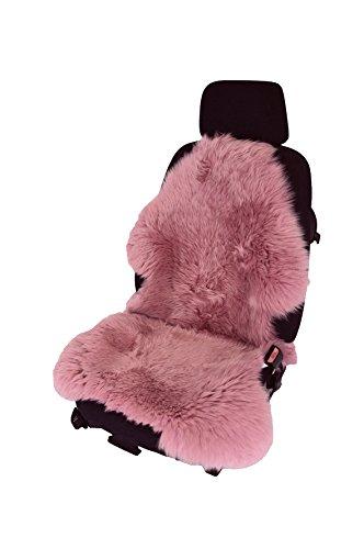 Leibersperger- Autofell Sitzauflage Lammfell Naturform langhaarig für Ledersitze (Pink)