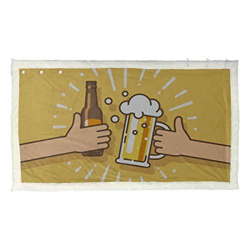 Bebida de cerveza Acuerdo acordado Saludos Abrigos y chales cálidos Abrigo para mujer Chal 53x30 pulgadas con 3 botones para sofá al aire libre Abrigo de viaje Chales y chales ligero