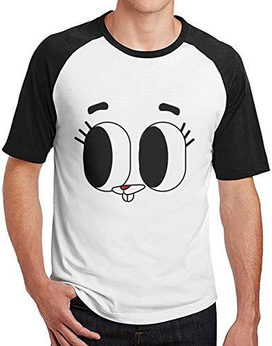 Jvfgbsdgfs Mens TAWOG Darwin & Gumball Raglan T-Shirt Crew Neck Raglan Baseball T Shirts