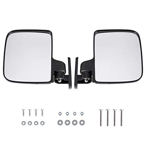 BETOOLL HW9008 Golf Cart Folding Side View Mirrors for Club Car, EZGO, Yamaha, Star, Zone Carts