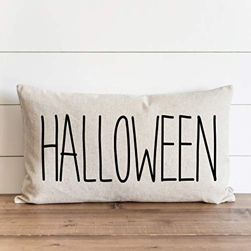Promini Funda de almohada de otoño para Halloween, otoño, Acción de Gracias, otoño, decoración del hogar, funda de cojín con cierre de cremallera oculto, para sofá, banco, cama de 60,6 x 60,6 cm