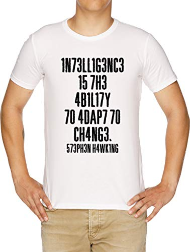 Intelligence Is The Ability To Adapt To Change Camiseta Hombre Blanco