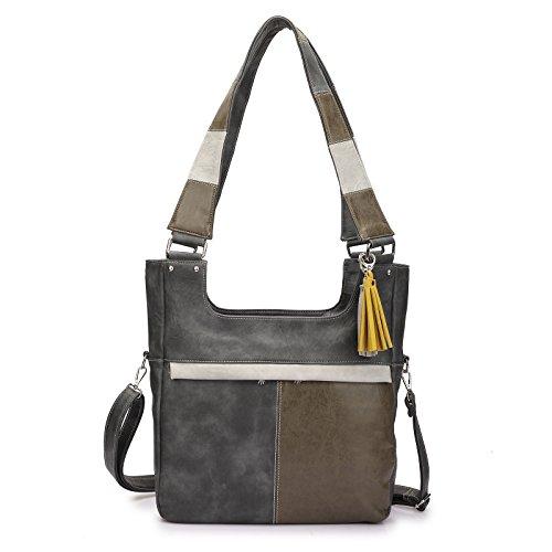Stylische Handtasche Christine Dark Grey vom Trend-Label Noi-Noi