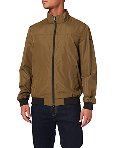 Geox M JHARROD BOMBER - POLYESTERE, Giacca Uomo, verde (GREEN MOSS), 52