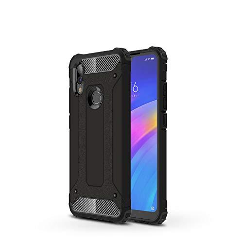 FanTing Cover para Xiaomi Redmi 7, [Armadura robusta] Robusta armadura híbrida de TPU / PC, a prueba de golpes, antirayaduras, funda para Xiaomi Redmi 7 Case-Black