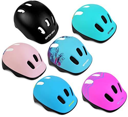 Spokey Fahrradhelm Kinder Radhelm verstellbare Größe | Kopfumfang 44-48/49-56 | Verschiedene Farbversionen (STARS2, 49-56)