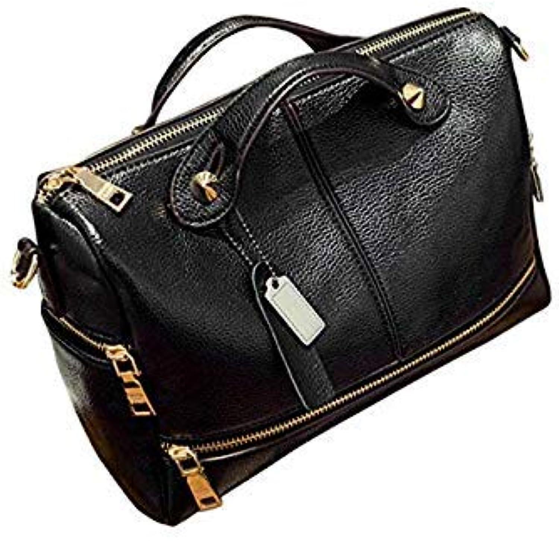 Bloomerang High Quality Women Handbag Tote Bags Cross Body houlder Bag Fashion PU Leather Clutch Messenger Bag Dropshipping  F color Black