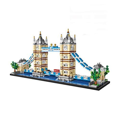 JILIGALA Micro Mini Bausteine London Tower Bridge Modell Set (1455 stücke) Berühmte Architektur Spielzeug Geschenke für Kind und Erwachsene DSB