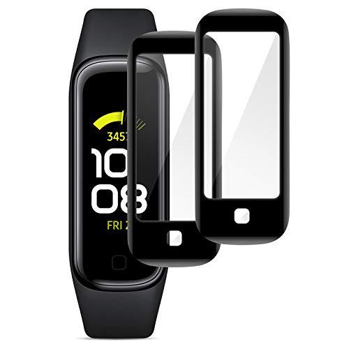 KIMILAR Pantalla Compatible con Samsung Galaxy Fit 2 [2 Piezas] Película Protectora,99,99% HD Mejorado 3D-Hot-Bend Plástico Resistente a Los Arañazos Película Compatible con Galaxy Fit 2 Smartwatch