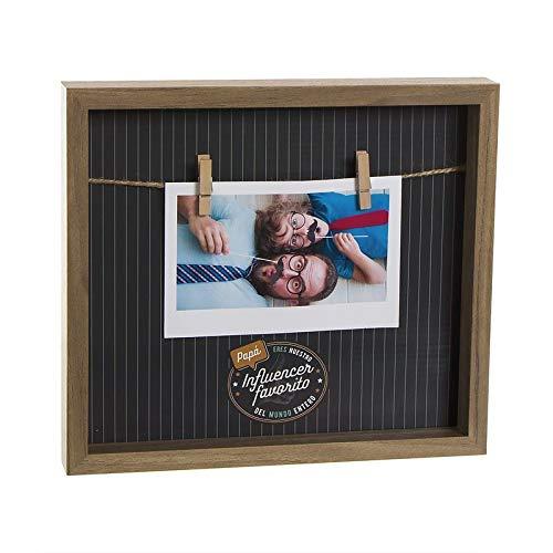 Marco de Fotos 10x15 cm con Pinzas para el Día del Padre
