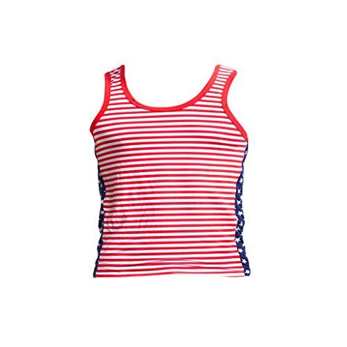 Hellery Débardeurs Ajustés pour Hommes T-Shirt sans Manches Décontracté Débardeur Gym Entraînement Sportif S-XL - Rouge, L