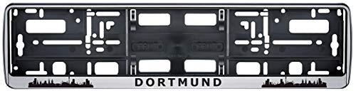 Auto Kennzeichenhalter Kennzeichenhalterung Skyline Dortmund Stadt City 2 Stück