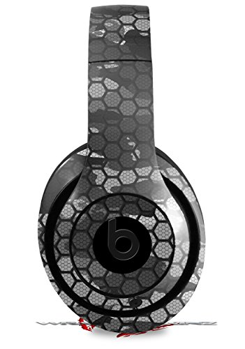 Skin Decal Wrap Works with Beats Studio 2 and 3 Wired and Wireless Headphones HEX Mesh Camo 01 Gray Skin Only Headphones NOT Included