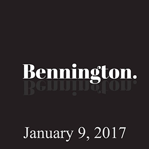 Bennington, January 9, 2017 audiobook cover art
