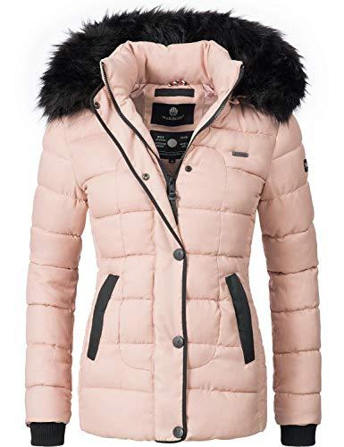 Marikoo Damen Winter Jacke Steppjacke Unique Rosa Gr. M