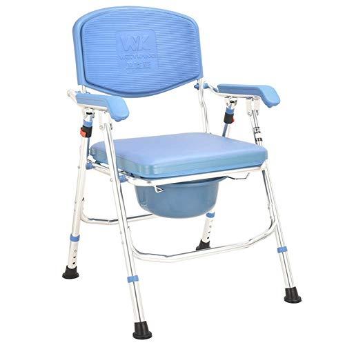 Z-SEAT 3 in 1 klappbarer Nachttisch, Duschstuhl Klappbarer tragbarer Bettkommode für ältere Menschen, 4 höhenverstellbarer behindertengerechter Toilettensitz, Toilettenhocker für med