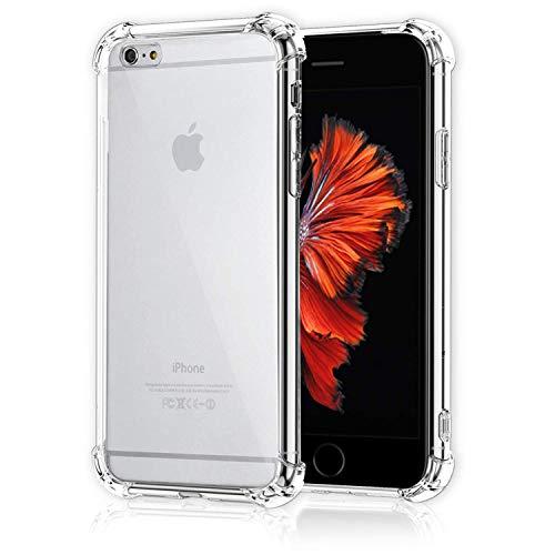 CT-HEXAGON® Schutzhülle kompatibel mit iPhone 6 Plus / 6s Plus, Hülle Transparent, Anti-Gelb, Durchsichtiges TPU Case Silikon【Stoßfest - Dünn - Verstärkte Ecken】