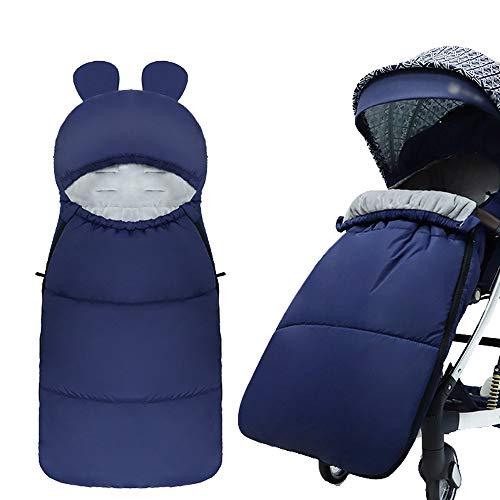 HyXia Saco de Dormir Universal para Silla de Paseo, Invierno al Aire Libre, para bebés, niños, Cochecito Infantil, Saco de Dormir, Saco cálido para pies, Nido para Dormir Anti-Patadas,C