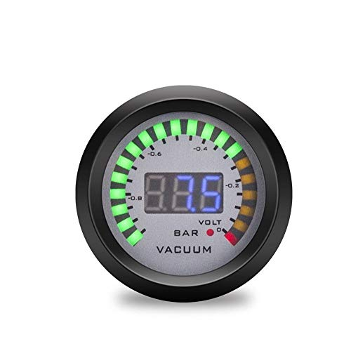 CAIZHIXIANG Medidor del Coche 2' 52mm LED de Doble Pantalla Boost/Agua/Aceite de Temperatura/presión de Aceite relación Aire/Combustible/Volt/tacómetro