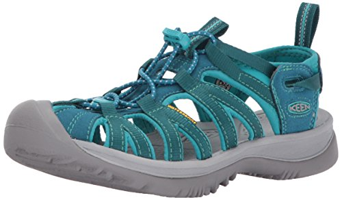 KEEN Women's Whisper-w Sandal, Blue Coral/Baltic, 10 M US