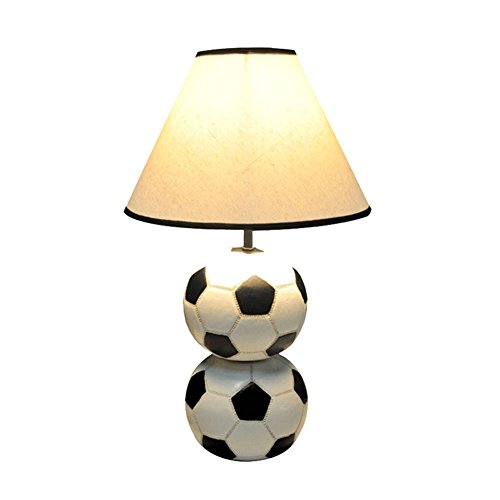 Football Lampe de Table, Coupe du Monde Commémorant Lampe de Table Chambre d'enfants Salon Lampe de Table Résine Lampe de Table Boutons Commutateur E27 30 * 44 CM (Couleur : A)