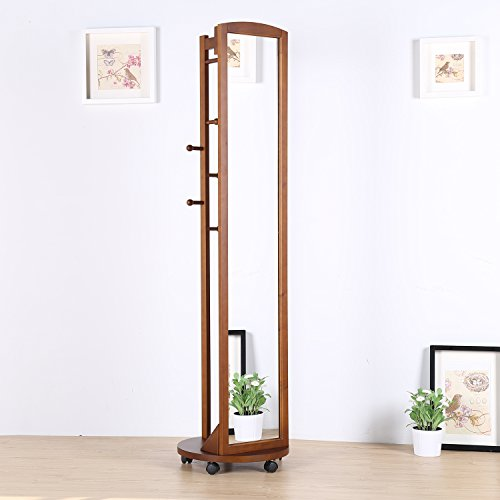 Learn More About Tiny Times Vlush Multifunctional 360°Swivel Wooden Frame 69'' Tall Full Length Mir...