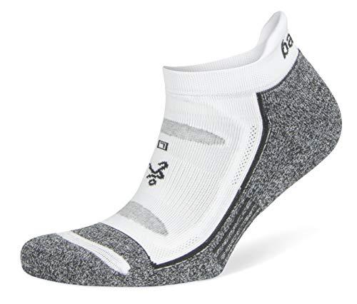 Balega Blister Resist No Show Socken für Damen und Herren, 1 Paar, Unisex-Erwachsene, Blister Resist No Show, weiß/grau, Medium