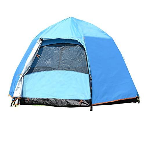 Schnell öffnet Zelt Vollautomatische Multiplayer Double Layer 4-7 Person Hexagon-Zelt im Freien Camping Camping Regenfest Geschwindigkeit Geöffnet 240 * 240 * 130CM